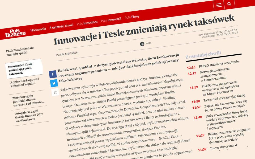 Robert Mikulski in Puls Biznesu on the Act on Electromobility