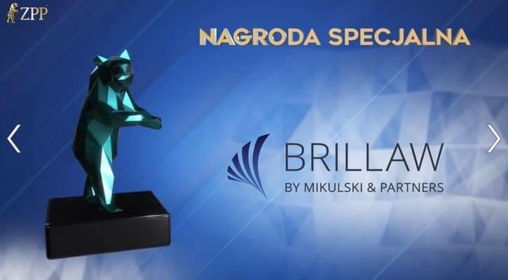 Kancelaria Brillaw otrzymała Nagrodę Specjalną Prezesa ZPP